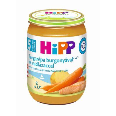 HiPP Sárgarépa burgonyával és vadlazaccal bébiétel