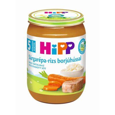 HiPP BIO Sárgarépa - rizs borjúhússal bébiétel