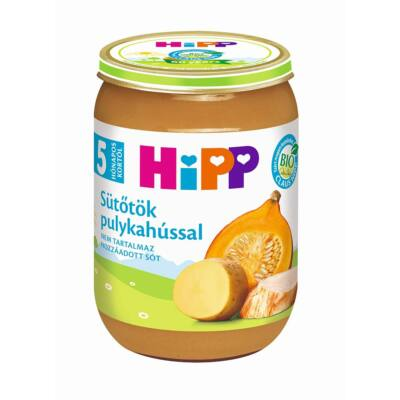 HiPP BIO Sütőtök pulykahússal bébiétel