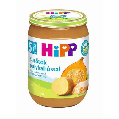 HiPP BIO sütőtök pulykahússal bébiétel 5 hónapos kortól 190g