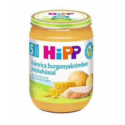 HiPP BIO Kukorica burgonyakrémben pulykahússal bébiétel