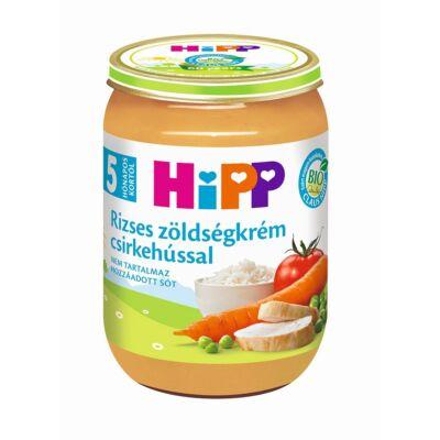 HiPP BIO Rizses zöldségkrém csirkehússal bébiétel