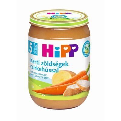 HiPP BIO Kerti zöldségek csirkehússal bébiétel 5 hónapos kortól 190 g