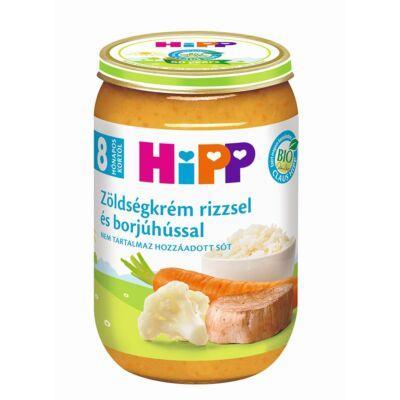 HiPP BIO Zöldségkrém rizzsel és borjúhússal bébiétel