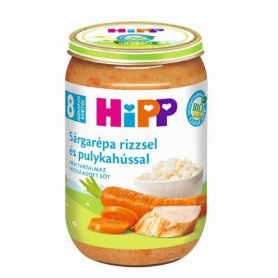 HiPP BIO Sárgarépa rizzsel és pulykahússal bébiétel
