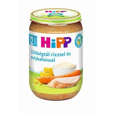 HiPP BIO Zöldségtál rizzsel és pulykahússal bébiétel