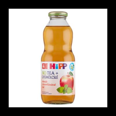 HiPP Tea + Gyümölcslé BIO almalé citromfűteával bébiital 4 hónapos kortól 0,5 l