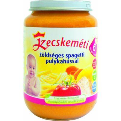 Kecskeméti Zöldséges spagetti pulykahússal bébiétel