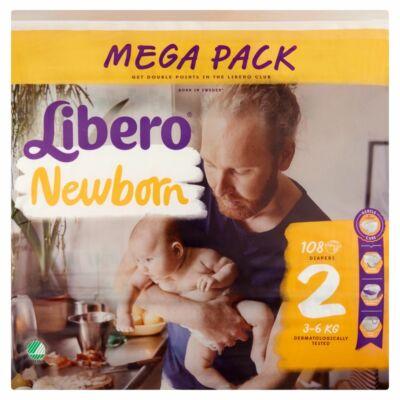 Libero Newborn 2 (3-6 kg) 108 db nadrágpelenka