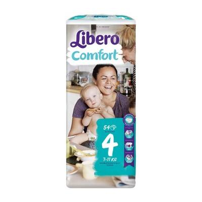 Libero Comfort Maxi, 4 (7-11kg) 54 db nadrágpelenka