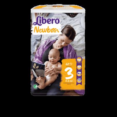 Libero Newborn 3 (4-8 kg) 68 db nadrágpelenka