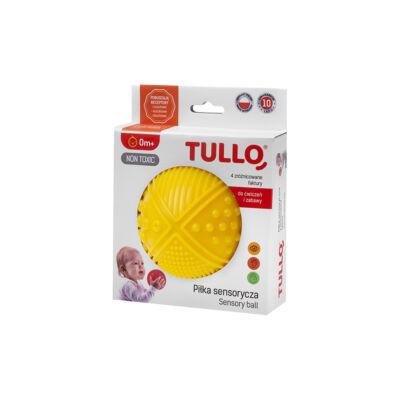 TULLO Készségfejlesztő labda, sárga, 0+ hó