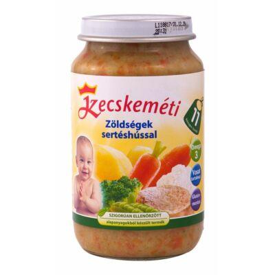 Zöldségek sertéshússal