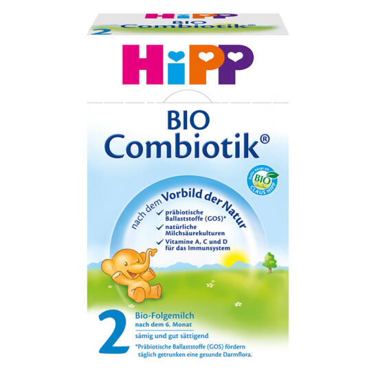 Hipp 2 BIO Combiotik tejalapú anyatej-kiegészítő tápszer 6 hónapos kortól