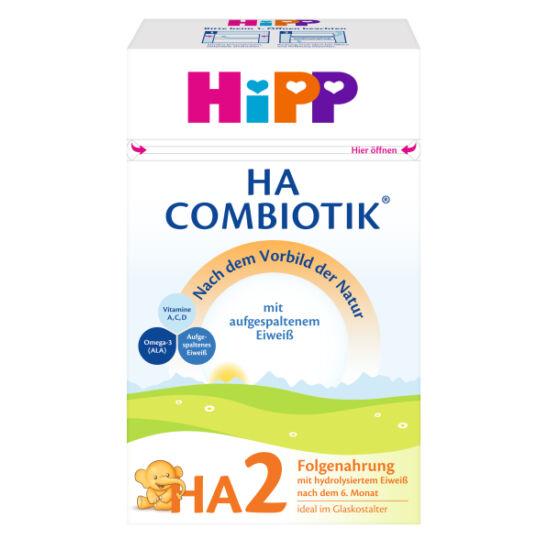 Hipp HA2 Combiotik Hypoallergén tejalapú anyatej-kiegészítő tápszer 6 hónapos kortól