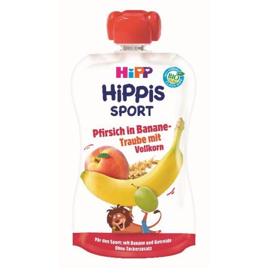 HiPP HiPPiS SPORT Őszibarack-banán-szőlő teljes kiőrlésű gabonával BIO 12 hónapos kortól